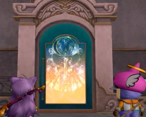 オルフェア王妃の別荘跡の扉