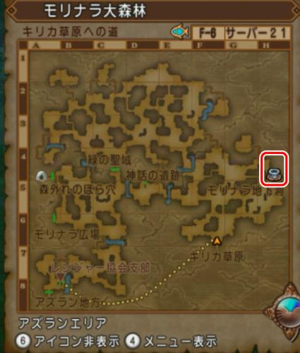 モリナラ大森林マップ