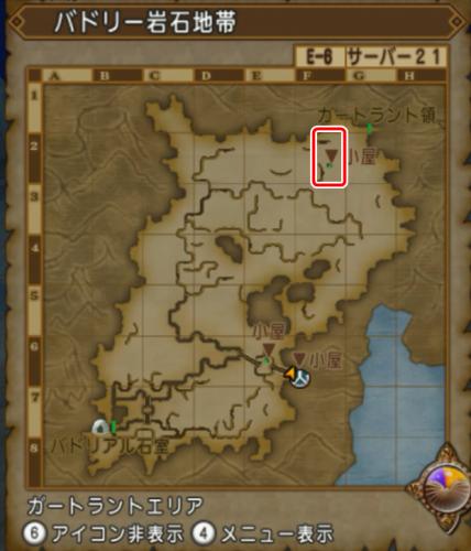 バドリー岩石地帯マップ
