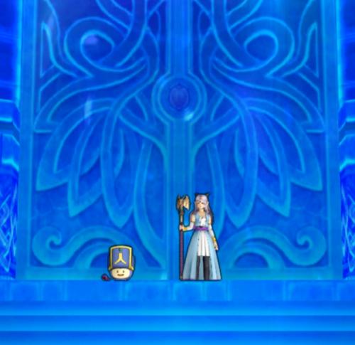 氷晶の聖塔前